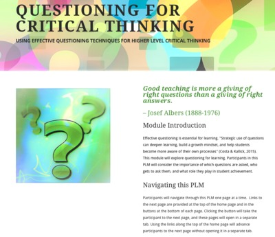 opportunities for critical thinking 1