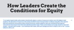 How Leaders Create the Conditions for Equity