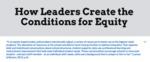 How Leaders Create the Conditions for Equity by Charli Kinard, Tieshia Pickett, and Anastasiya Shchetynska