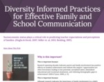 Diversity Informed Practices for Effective Family and School Communication