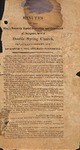 1851 Minutes of the Kings Mountain Baptist Association