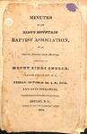 1854 Minutes of the Kings Mountain  Baptist Association