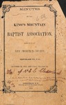 1856 Minutes of the Kings Mountain Baptist Association