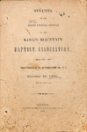 1860 Minutes of the Kings Mountain Baptist Association