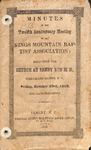 1863 Minutes of the Kings Mountain Baptist Association