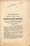 1866 Minutes of the Kings Mountain Baptist Association
