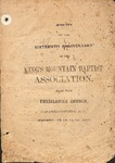 1867 Minutes of the Kings Mountain Baptist Association