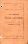 1883 Minutes of the Kings Mountain Baptist Association