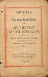 1893 Minutes of the Kings Mountain Baptist Association
