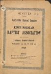 1896 Minutes of the Kings Mountain Baptist Association