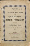 1897 Minutes of the Kings Mountain Baptist Association