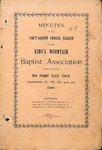 1899 Minutes of the Kings Mountain Baptist Association