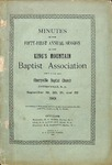1901 Minutes of the Kings Mountain Baptist Association