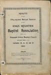 1902 Minutes of the Kings Mountain  Baptist Association