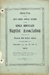 1903 Minutes of the Kings Mountain Baptist Association