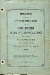 1904 Minutes of the Kings Mountain Baptist Association