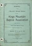 1906 Minutes of Kings Mountain Baptist Association