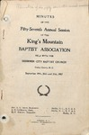 1907 Minutes of the Kings Mountain Baptist Association