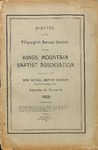 1908 Minutes of the Kings Mountain Baptist Association