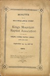 1909 Minutes of the Kings Mountain Baptist Association