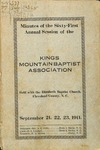 1911 Minutes of the Kings Mountain Baptist Association