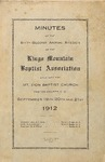 1912 Minutes of the Kings Mountain Baptist Association
