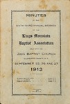 1913 Minutes of the Kings Mountain Baptist Association