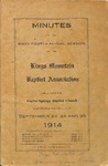 1914 Minutes of the Kings Mountain Baptist Association