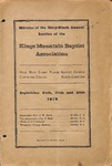 1919 Minutes of the Kings Mountain Baptist Association