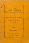 1934 Minutes of the Kings Mountain Baptist Association
