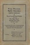 1942 Minutes of the Kings Mountain Baptist Association