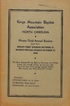 1943 Minutes of the Kings Mountain Baptist Association