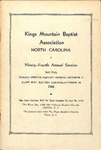 1944 Minutes of the Kings Mountain Baptist Association