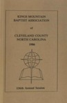 1986 Minutes of the Kings Mountain Baptist Association by Kings Mountain Baptist Association