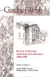 1998 - 1999, Gardner-Webb University Graduate Academic Catalog, Master of Business Administration Program