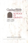 1993 - 1994, Gardner-Webb University Graduate Academic Catalog, M. Christopher White School of Divinity by Gardner-Webb University