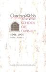 1994 - 1995 Gardner-Webb University Graduate Academic Catalog, M. Christopher White School of Divinity