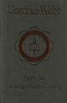 1993 - 1994, Gardner-Webb University Academic Catalog