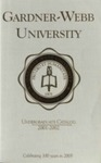 2001 - 2002, Gardner-Webb University Academic Catalog