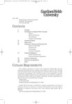 2007 - 2008, Gardner-Webb University Academic Catalog