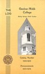 1952 - 1953, Gardner-Webb College Academic Catalog, The Log