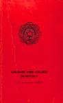 1960 - 1961, Gardner-Webb College Academic Catalog, The Quarterly
