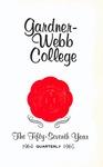 1964 - 1964, Gardner-Webb College Academic Catalog, The Quarterly