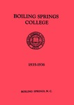 1935 - 1936, Boiling Springs College Academic Catalog