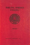 1936 - 1937, Boiling Springs College Academic Catalog
