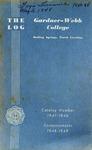 1947 - 1948, Gardner-Webb College Academic Catalog, The Log