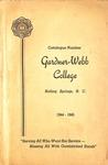 1944 - 1945, Gardner-Webb College Academic Catalog